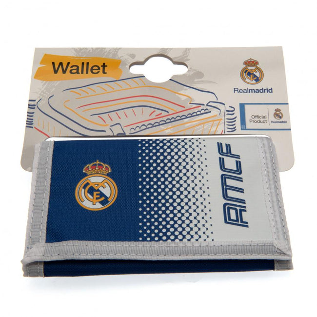 White-Blue - Lifestyle - Real Madrid FC Touch Fastening Fade Design Nylon Wallet