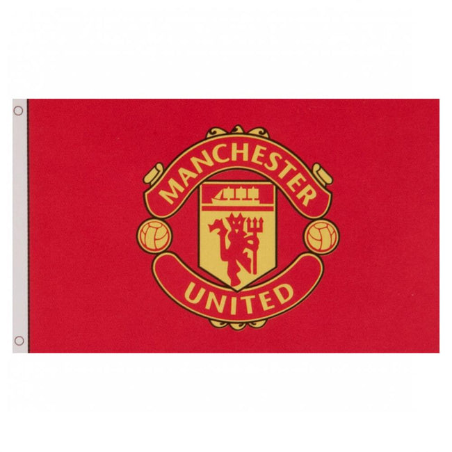 Red - Back - Manchester United FC Flag