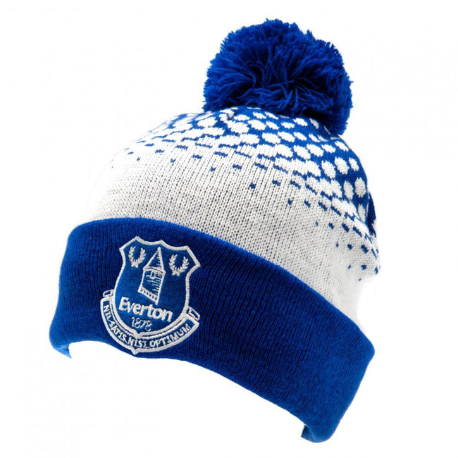 White-Blue - Front - Everton FC Adults Unisex Bobble Ski Hat