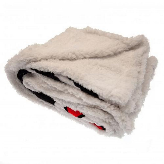 Black-White - Back - Fulham FC Sherpa Fleece Blanket