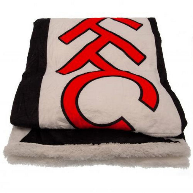 Black-White - Side - Fulham FC Sherpa Fleece Blanket