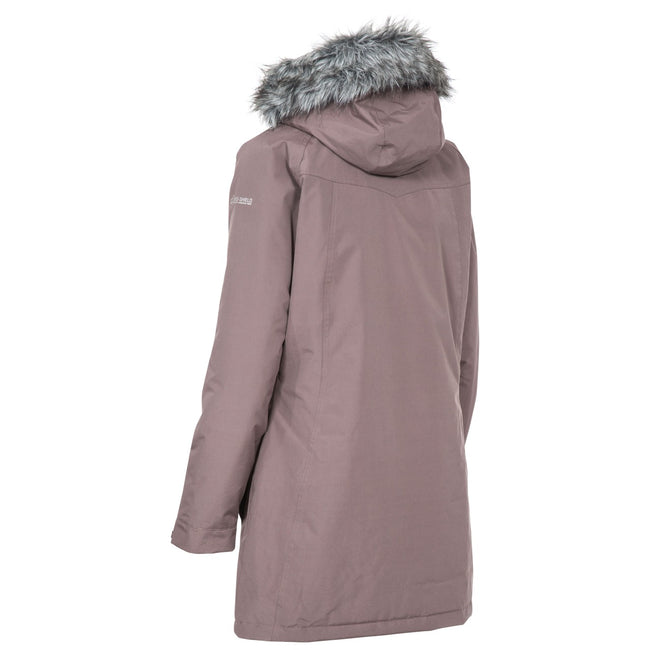 Dusty Heather - Back - Trespass Womens-Ladies San Fran Padded Jacket