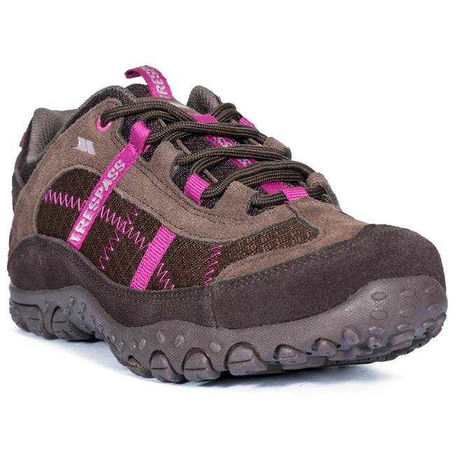 Coffee - Front - Trespass Womens-Ladies Fell Lightweight Walking Shoes