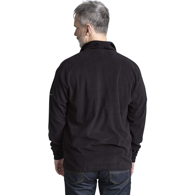 Merlot - Front - Trespass Mens Masonville Half Zip Microfleece Top