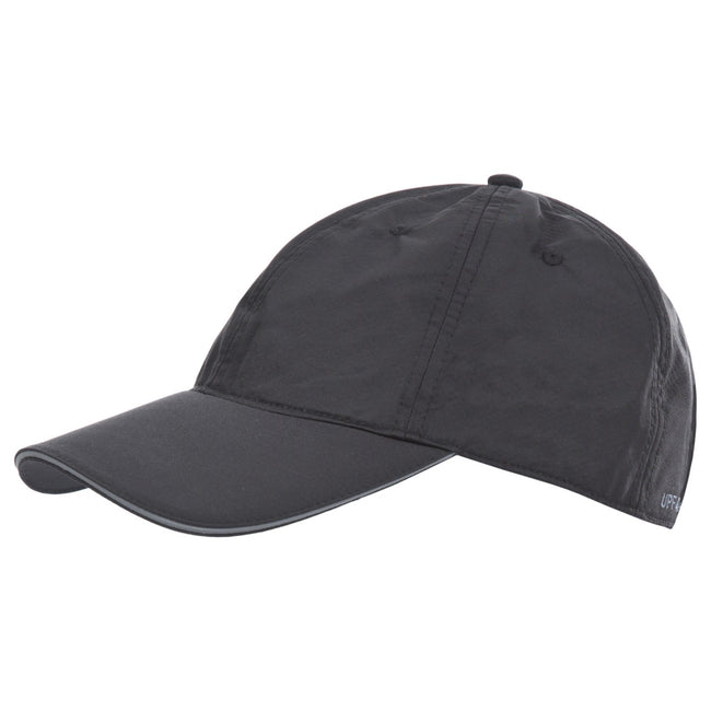 Black - Front - Trespass Mens Cosgrove Quick Dry Baseball Cap