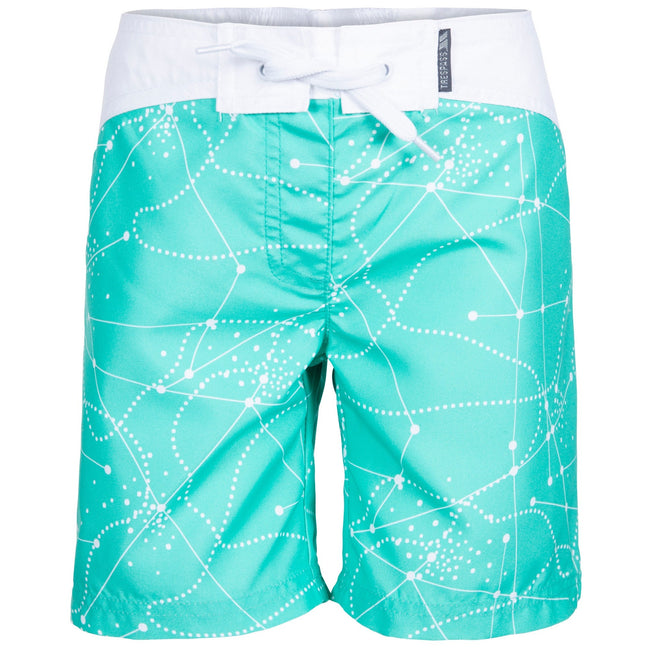 Lagoon - Front - Trespass Childrens Girls Mabel Summer Shorts