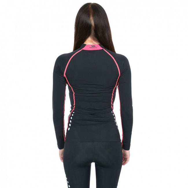 Black - Lifestyle - Trespass Womens-Ladies Dasha Long Sleeve Compression Top
