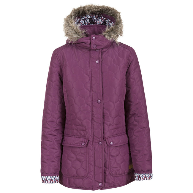 Blackberry - Front - Trespass Womens-Ladies Jenna Casual Padded Jacket