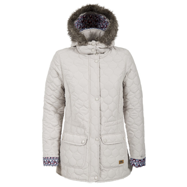 Almond - Front - Trespass Womens-Ladies Jenna Casual Padded Jacket