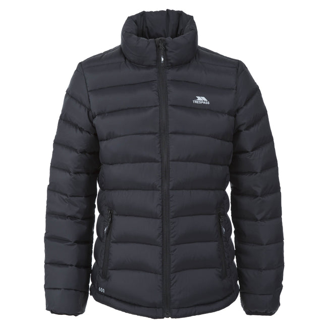 Black - Front - Trespass Womens-Ladies Letty Full Zip Up Down Jacket