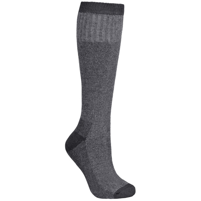 Flint - Front - Trespass Mens Brogan Long Length Hiking Boot Socks (1 Pair)