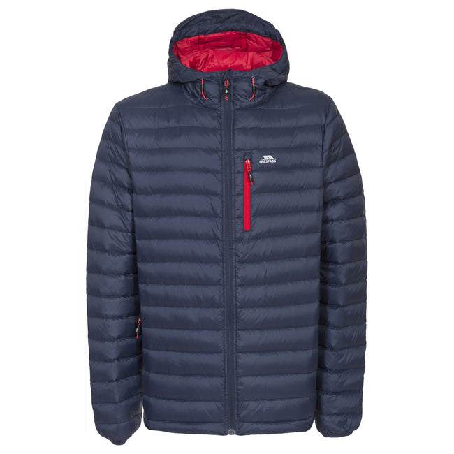 Navy - Back - Trespass Mens Digby Down Jacket