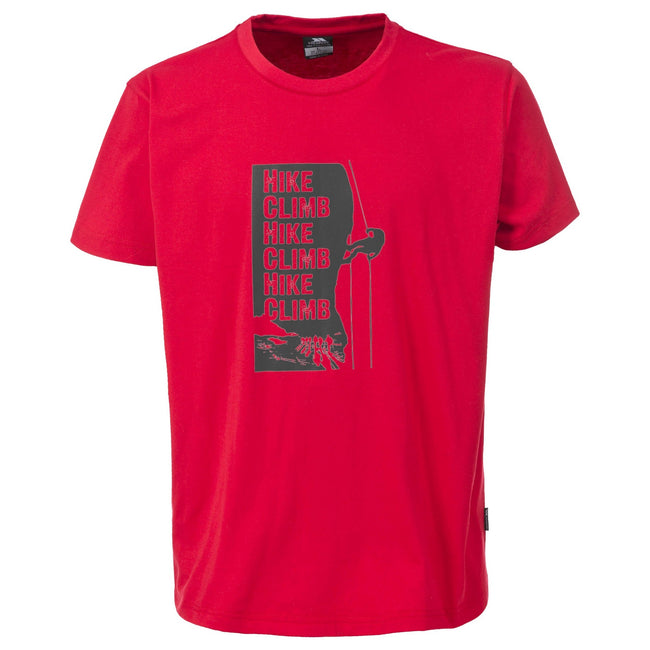 Red - Front - Trespass Mens Tramore Casual Short Sleeve T-Shirt