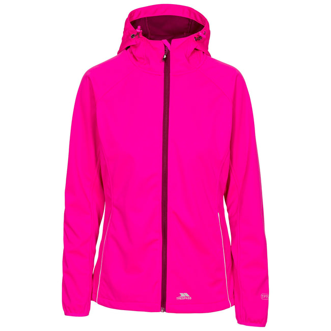 Pink Glow - Front - Trespass Womens-Ladies Sisely Waterpoof Softshell Jacket