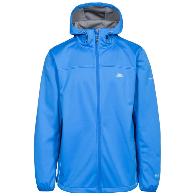 Bright Blue - Front - Trespass Mens Zeek Waterproof Softshell Jacket