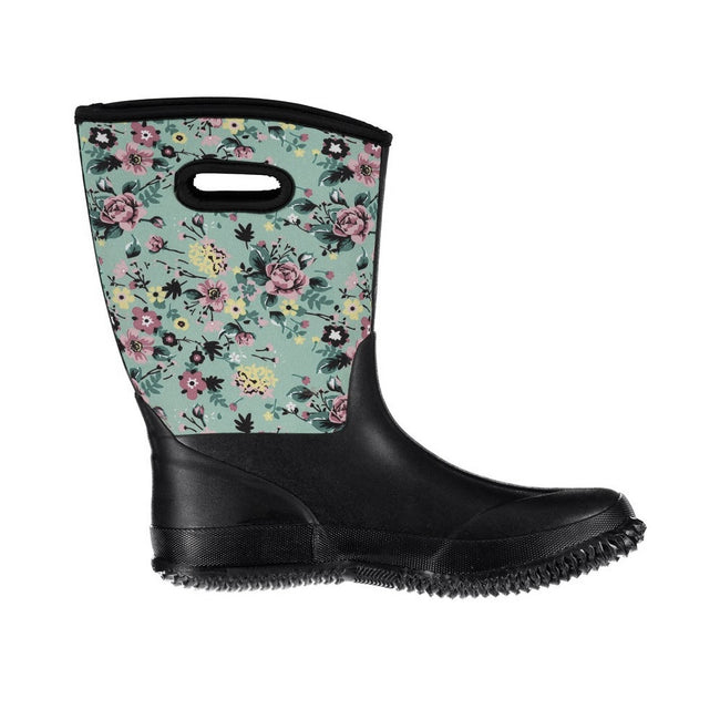 Peppermint Floral Print - Front - Trespass Womens-Ladies Geraldine Waterproof Wellington Boots