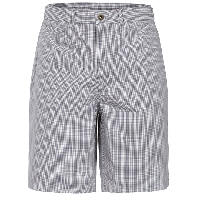Grey Check - Front - Trespass Mens Quantum Casual Shorts
