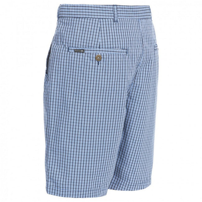 Navy Check - Back - Trespass Mens Quantum Casual Shorts