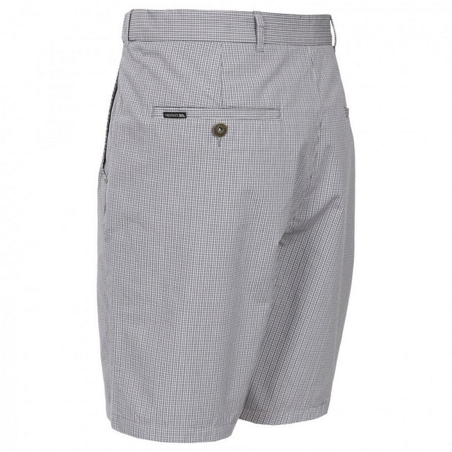 Grey Check - Back - Trespass Mens Quantum Casual Shorts