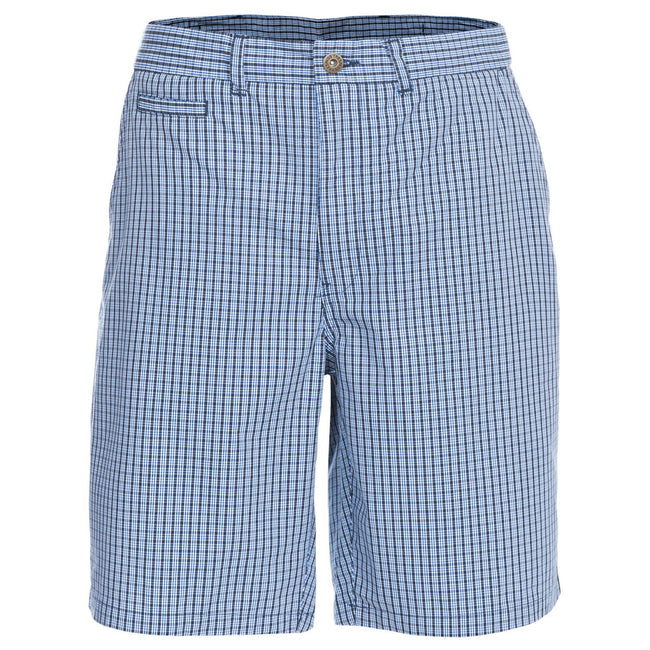 Navy Check - Front - Trespass Mens Quantum Casual Shorts