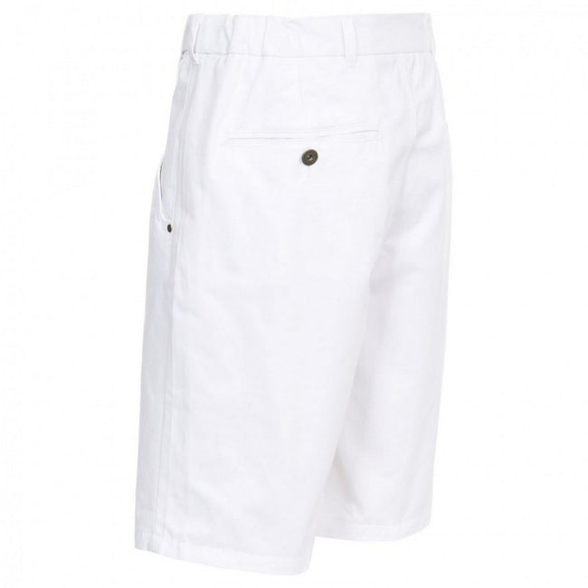 White - Back - Trespass Mens Firewall Casual Shorts