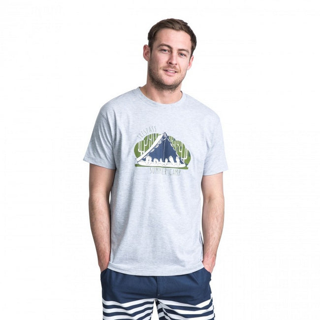 Grey Marl - Back - Trespass Mens Camp Casual Short Sleeve T-Shirt