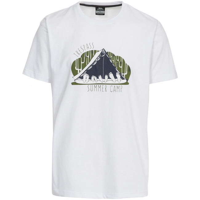 White - Front - Trespass Mens Camp Casual Short Sleeve T-Shirt