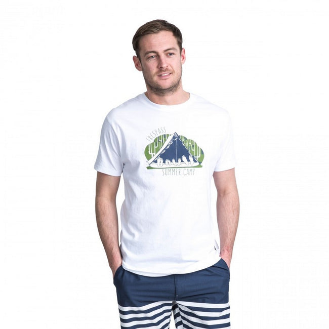 White - Back - Trespass Mens Camp Casual Short Sleeve T-Shirt