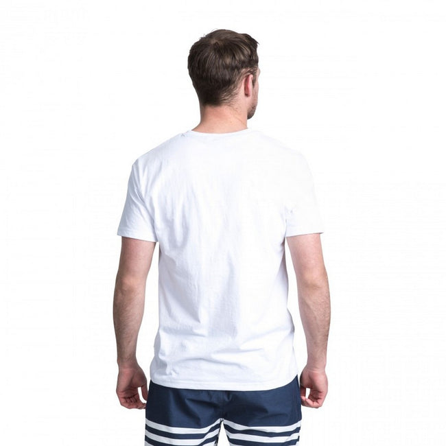White - Side - Trespass Mens Camp Casual Short Sleeve T-Shirt