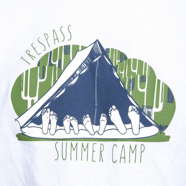 White - Lifestyle - Trespass Mens Camp Casual Short Sleeve T-Shirt
