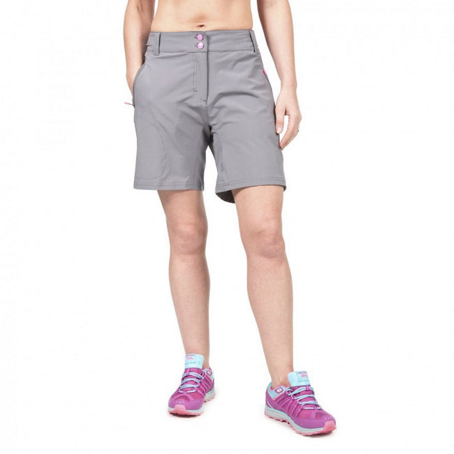 Storm Grey - Side - Trespass Womens-Ladies Edgar Cycling Shorts