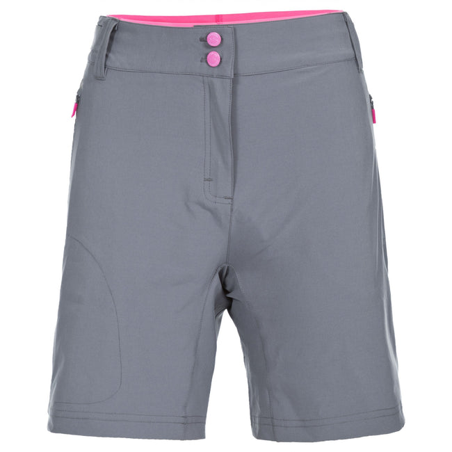 Storm Grey - Front - Trespass Womens-Ladies Edgar Cycling Shorts