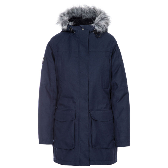 Navy - Front - Trespass Womens-Ladies Thundery Waterproof Jacket