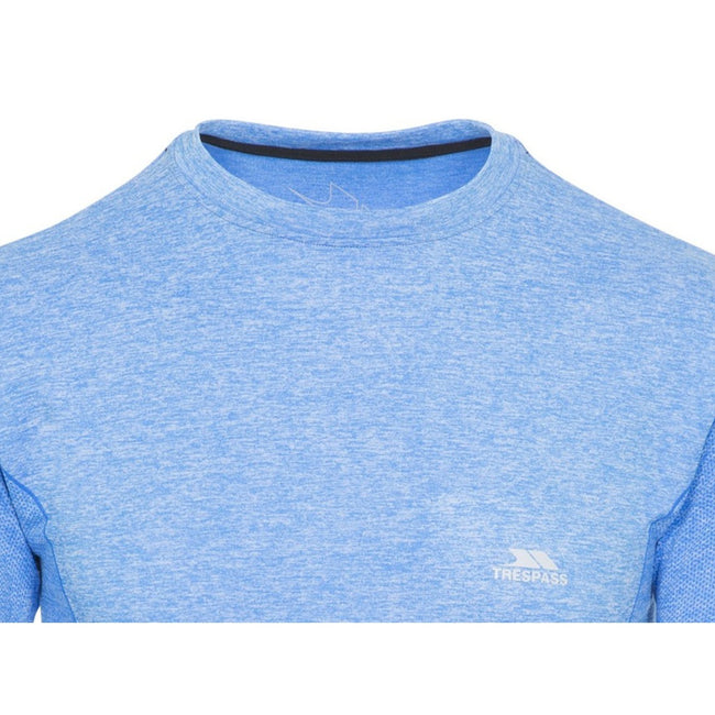Bright Blue Marl - Front - Trespass Mens Timo Long Sleeve Active Top