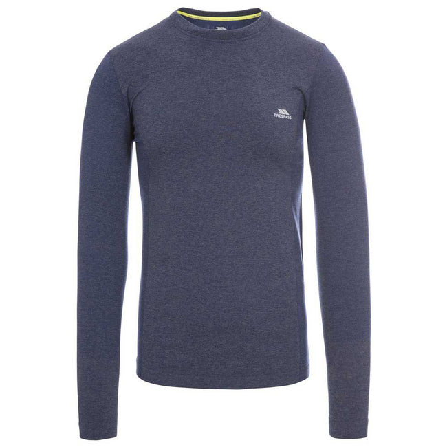 Bright Blue Marl - Back - Trespass Mens Timo Long Sleeve Active Top