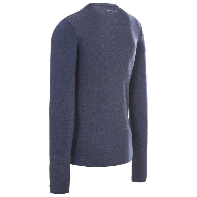 Bright Blue Marl - Side - Trespass Mens Timo Long Sleeve Active Top