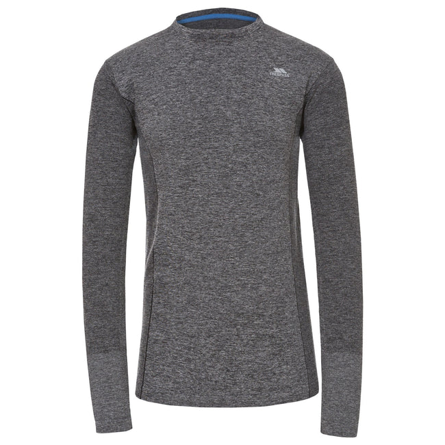 Black Marl - Front - Trespass Mens Timo Long Sleeve Active Top