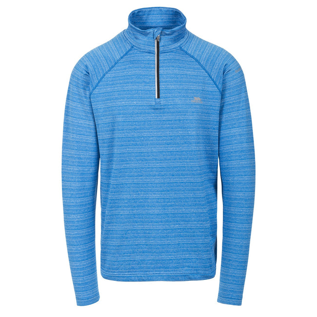 Bright Blue - Front - Trespass Mens Birney Long Sleeve Active Top