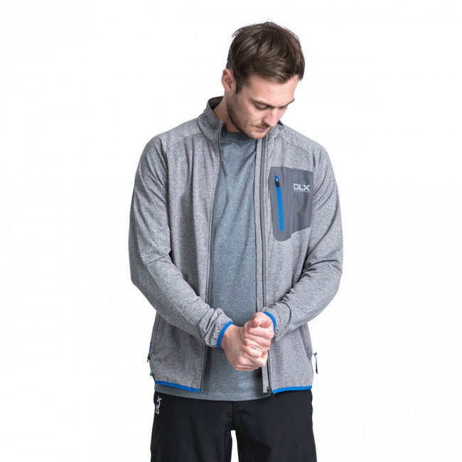 Blue Marl - Back - Trespass Mens Colson Full Zip Active Top