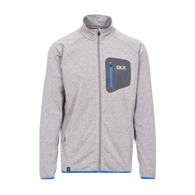 Grey Marl - Front - Trespass Mens Colson Full Zip Active Top