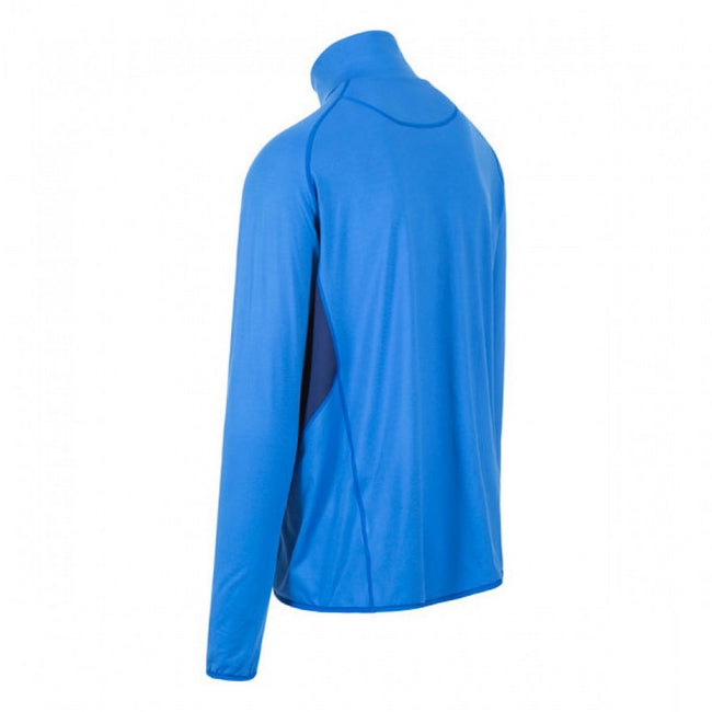 Blue - Back - Trespass Mens Brennen Long Sleeve Active Top