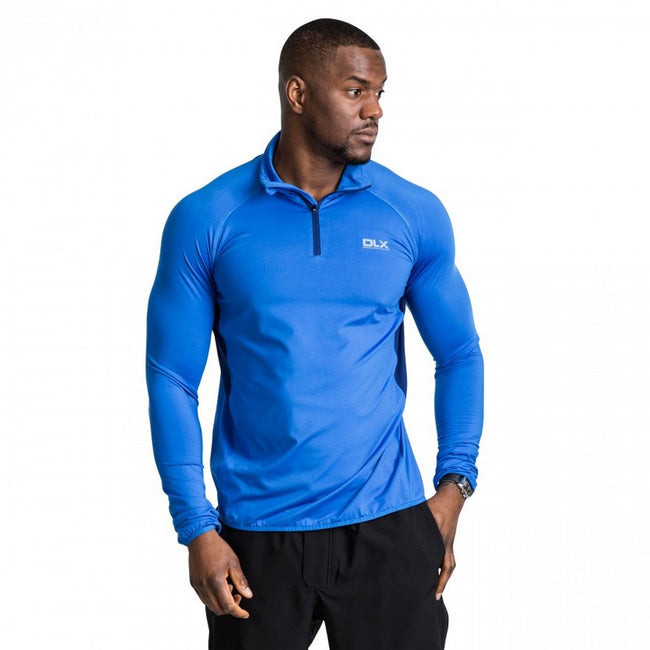 Blue - Side - Trespass Mens Brennen Long Sleeve Active Top