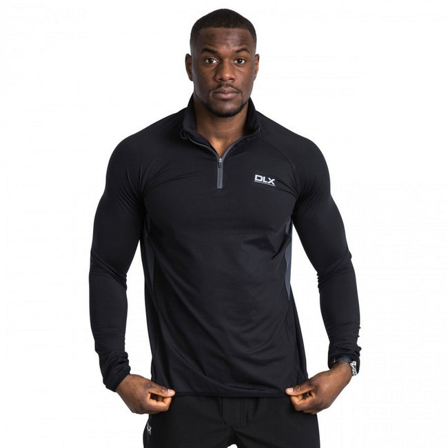 Black - Side - Trespass Mens Brennen Long Sleeve Active Top