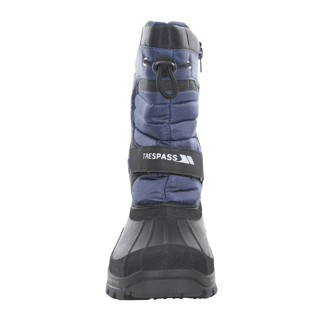 Navy Blue - Side - Trespass Childrens-Kids Huskie Waterproof Snow Boot