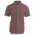 Burnt Orange Check - Front - Trespass Mens Juba Short Sleeve Casual Shirt