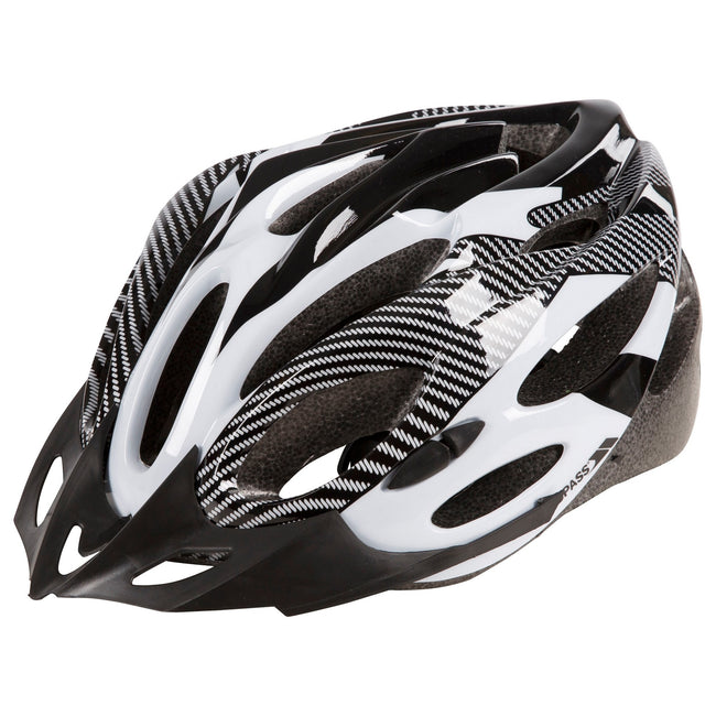Red - Back - Trespass Adults Unisex Crankster Cycling Helmet