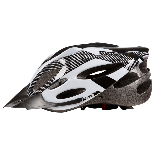 Red - Side - Trespass Adults Unisex Crankster Cycling Helmet
