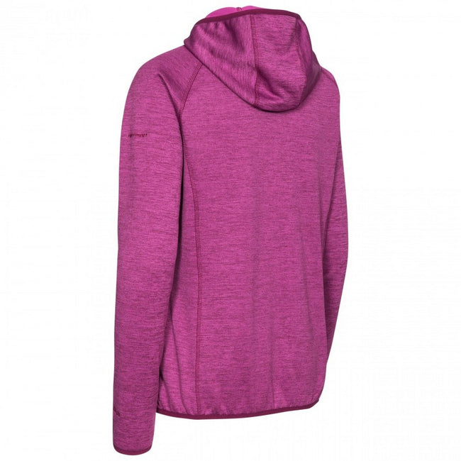 Grape Wine Marl - Back - Trespass Womens-Ladies Youri Full Zip Fleece
