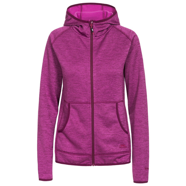 Grape Wine Marl - Front - Trespass Womens-Ladies Youri Full Zip Fleece
