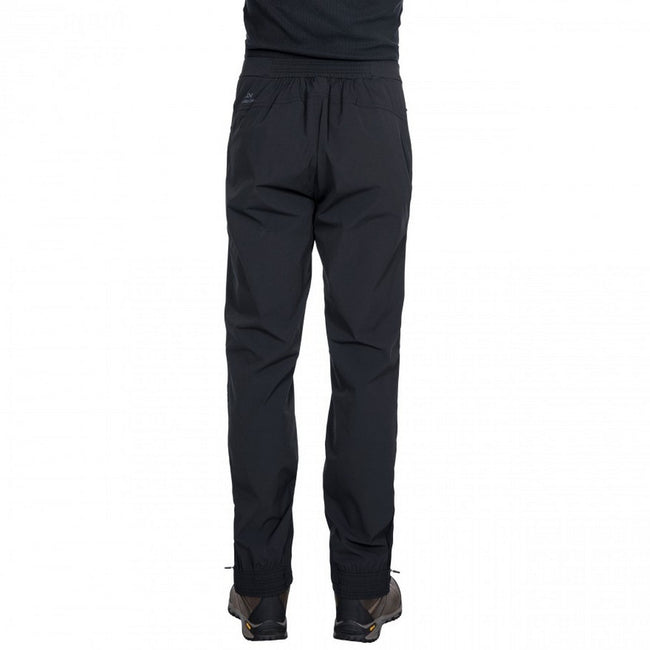 Black - Back - Trespass Mens Stormed Adventure Trousers